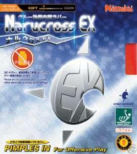 Nittaku Narucross EX soft rubber table tennis ping pong