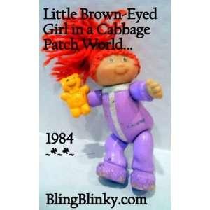 Kid Miniature Red hair Teddy Bear Brown Eyed Girl