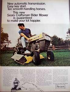 1969  Craftsman Riding Mower model 9671 vintage ad