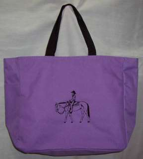 Western Pleasure Quarter Horse PURPLE tote bag Trail New