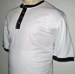 NEW 5XLT SEAN JOHN MENS SHIRT White Black Zipper 5XT