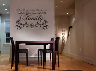 Other Things May   Family  Vinyl Wall Lettering Decal