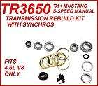 01+ MUSTANG 5 SPEED MANUAL TRANSMISSION REBUILD KIT W/ SYNCHROS