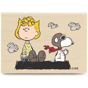 Sally Flying (Peanuts)   Rubber Stamps: Arts, Crafts