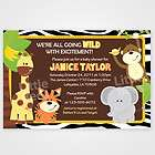 Zebra Print Jungle Safari Friends Baby Shower