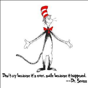 Dr. Seuss Wall Art Decal   Dont Cry Because Its Over